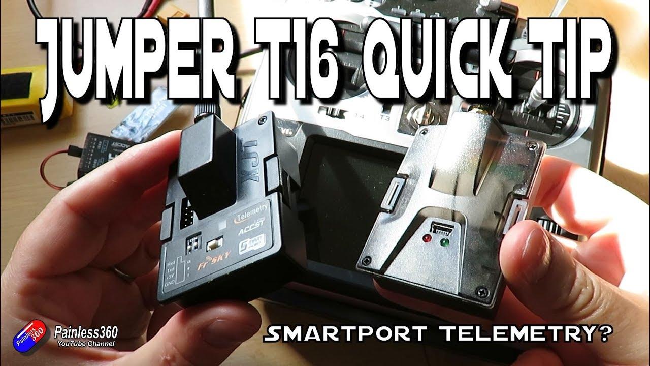 Jumper T16 Question: Does Smartport telemetry work? - Самые лучшие видео