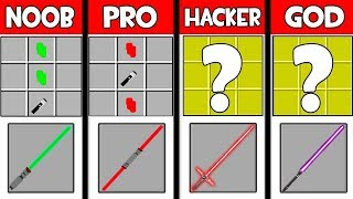 Minecraft - NOOB vs PRO vs HACKER vs GOD : LIGHT SWORD in Minecraft ! AVM SHORTS Animation