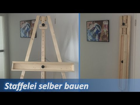 staffelei selber bauen how to make an easel youtube. Black Bedroom Furniture Sets. Home Design Ideas