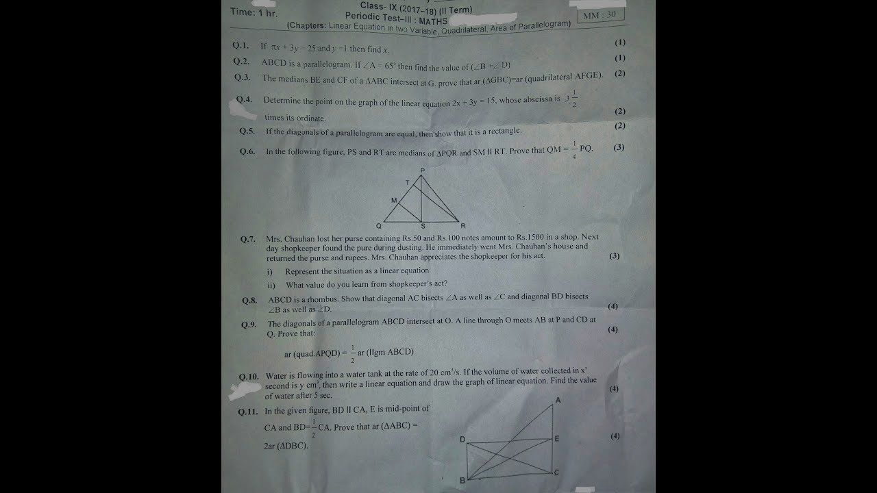 Class 9 cbse maths periodic test 3 question paper 2017 18 class 9 cbse maths periodic test 3 question paper 2017 18 everything available sciox Images
