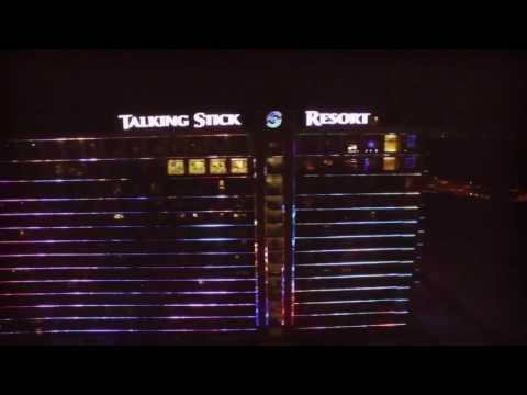 Quick Night Flight Over The Talking Stick Casino, Scottsdale AZ (low Res)