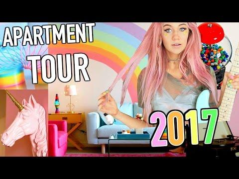 NEW APARTMENT TOUR 2017!! Epic Rainbow Mermaid Room