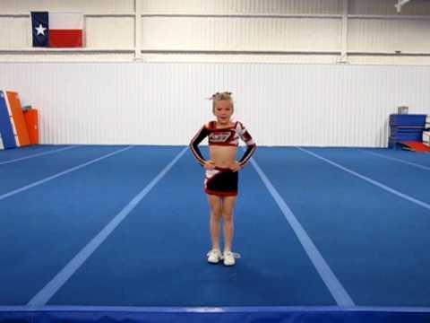 Karolyne- individual cheerleading routine - Age 8