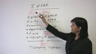 Business English – Talking about your Work