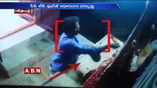CCTV Footage Records Silver Crown Stolen At Gunfoundry Durga Bhavani Temple Hyderabad