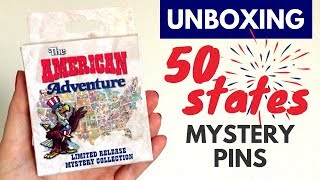 "UNBOXING Disney ""American Adventure"" Mystery Pins 