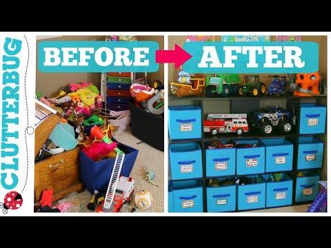 How to Organize Toys - Messy Monday - Before and After Toy Organization