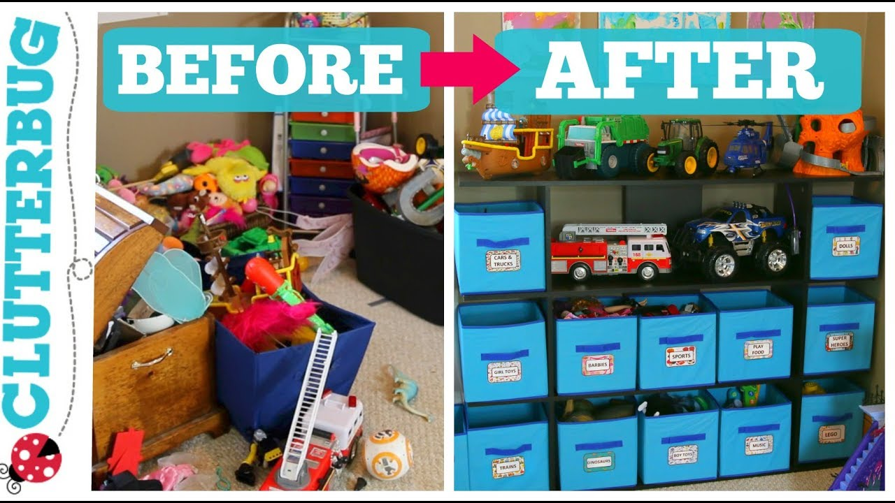 11 Tips For Keeping Kids Toys Organized: Before And After Toy