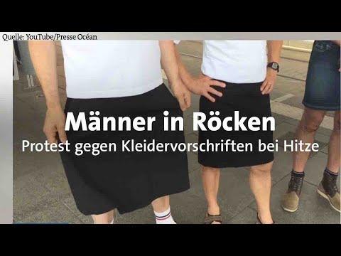 Protest gegen Kleiderordnung: Bei Hitze trägt Man(n) Rock