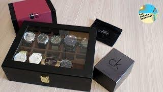 Шкатулка для часов с Aliexpress. Часы из Китая