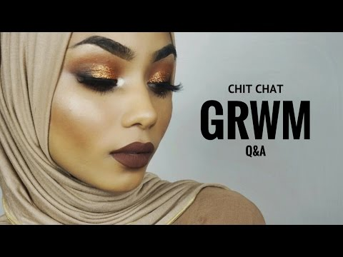Chit chat GRWM + Q&A | marriage, age, ethnicity ?!