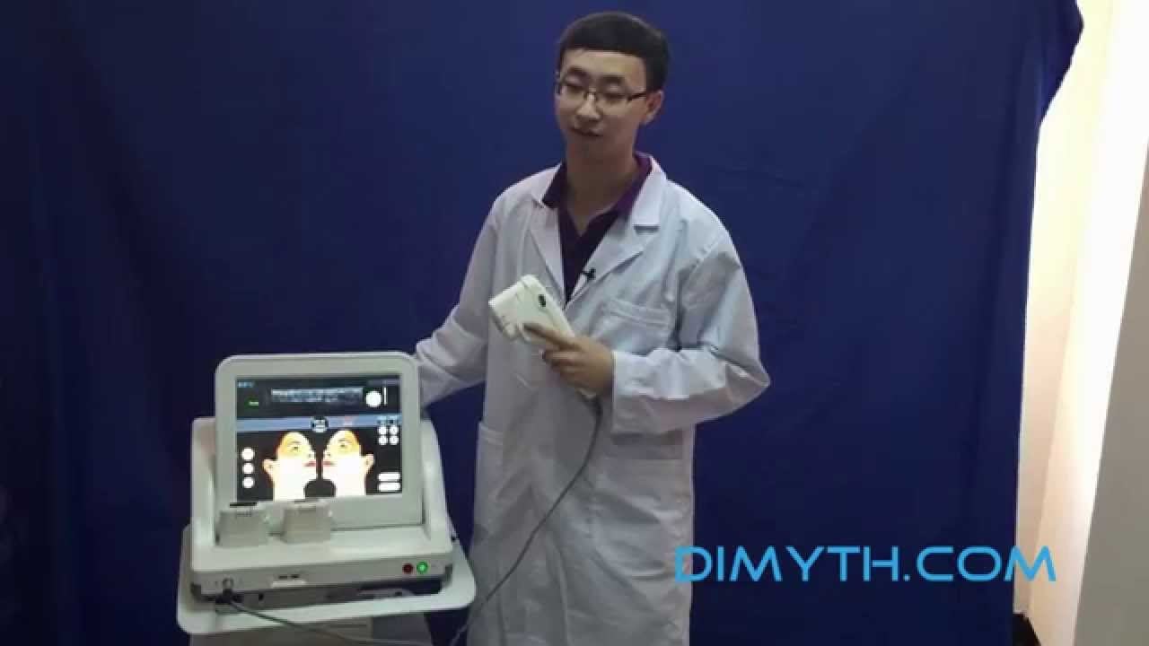 HIFU face lift demo - DM-508 HIFU machine - from Dimyth com