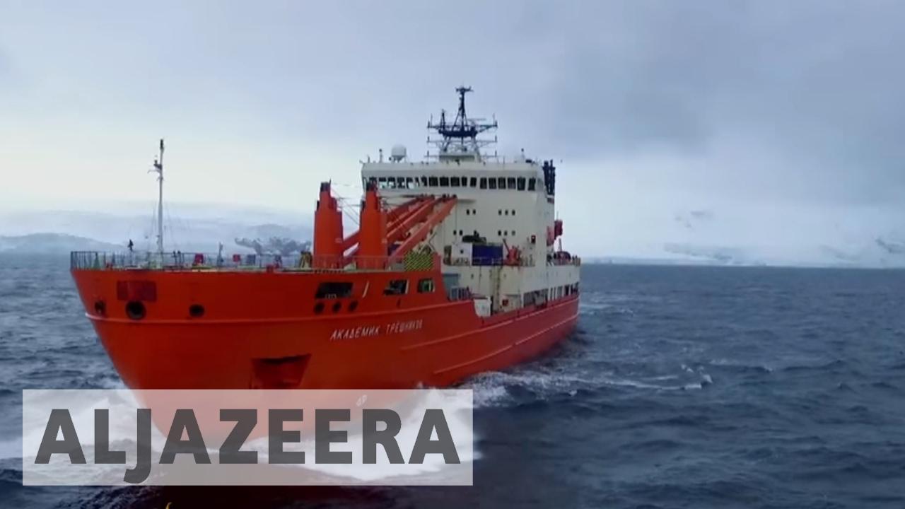 Antarctica expedition surveys volcanic islands