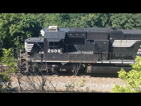 Railfanning in Crescent Springs KY With NS #2509 Leading Freight Train