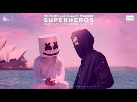 SUPERHEROS - Alan Walker & Marshmello   Kero Video Music