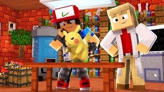 Minecraft: Acampamento Pokemon X Y - MEU PRIMEIRO POKEMON !! PIKACHU #1