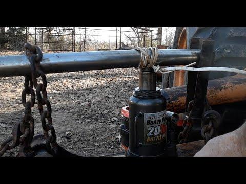 Abandoned Case Backhoe Hydraulic Rod Straighten