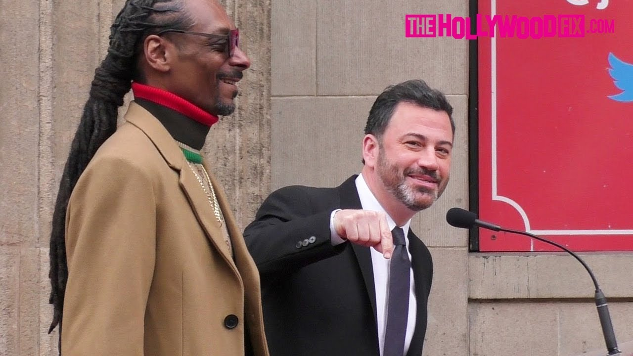 Jimmy Kimmel Speaks At Snoop Dogg's Hollywood Walk Of Fame Ceremony 11.19.18