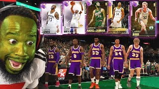 MY OPPONENT HAS LIMITED LEBRON & KOBE! GOD SQUAD WAGER NBA 2K19!