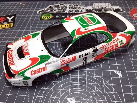Tamiya Castol Celica WRC Part 7 - Painting the body