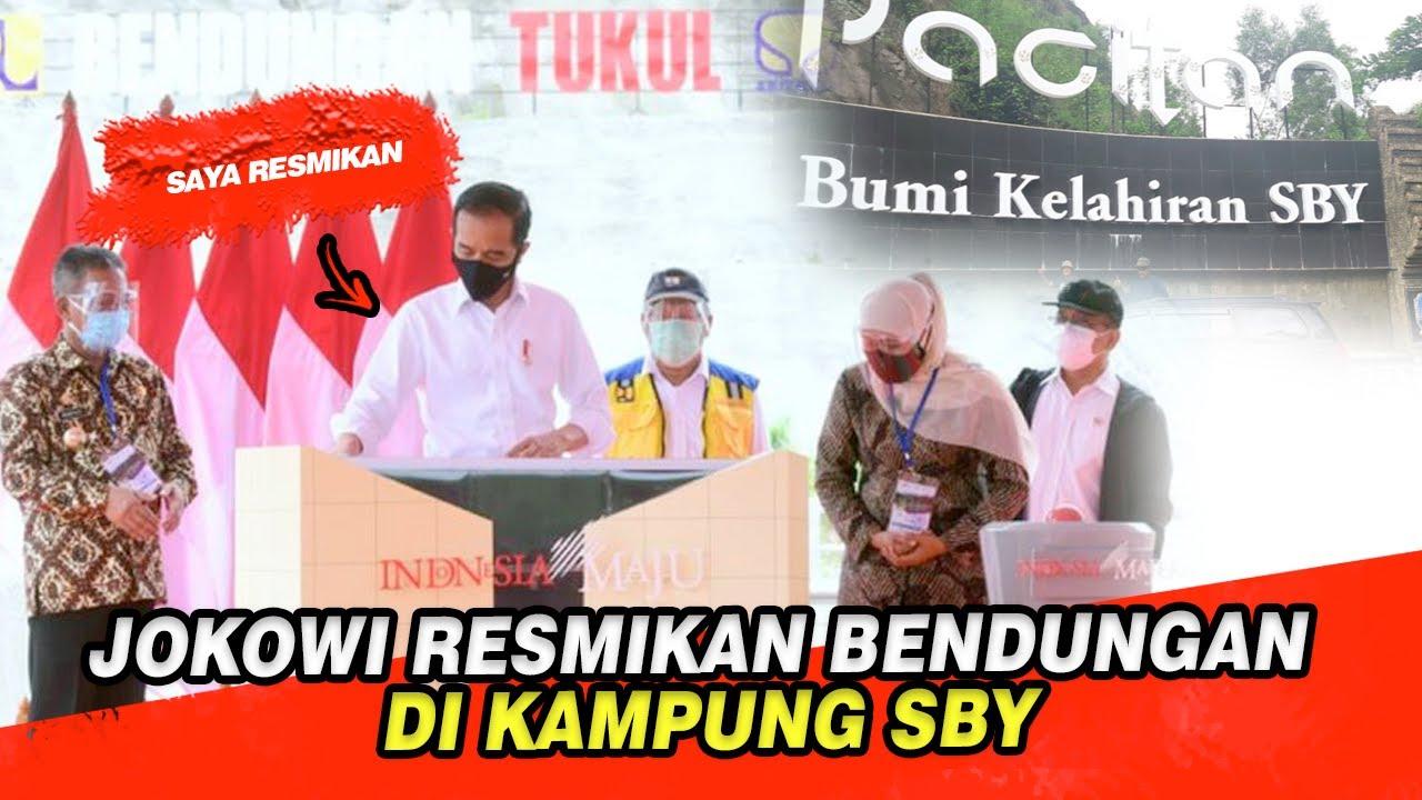JOKOWI KE KAMPUNG SBY, RESMIKAN BENDUNGAN TUKUL