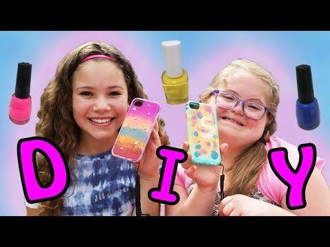 DIY Nail Polish Phone Case! ft Sierra Haschak!