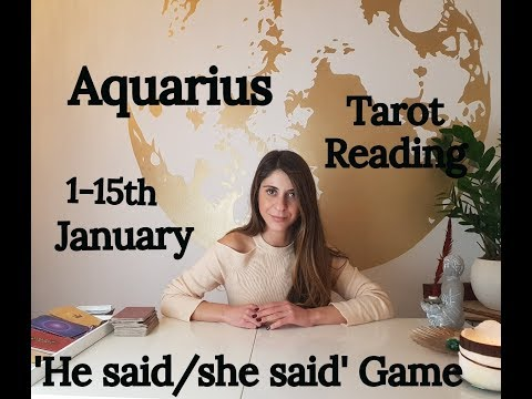 AQUARIUS - THEY ARE HURT MORE THEN YOU REALIZE - 1-15TH January Tarot Reading