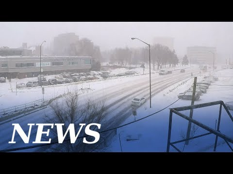 TImelapse: Sudbury snowmageddon part 1 (Feb. 12-13, 2019)