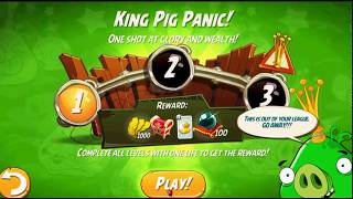 Beat The Daily Challenge King Pig Panic Completed in Angry Birds 2 wednesday(2)