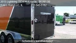 2015 Lightning 7X14 Motorcycle Aluminum Enclosed Trailer for