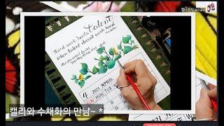딥펜으로 쓰는 영문 수채캘리테라피 / 캘리안Callia…