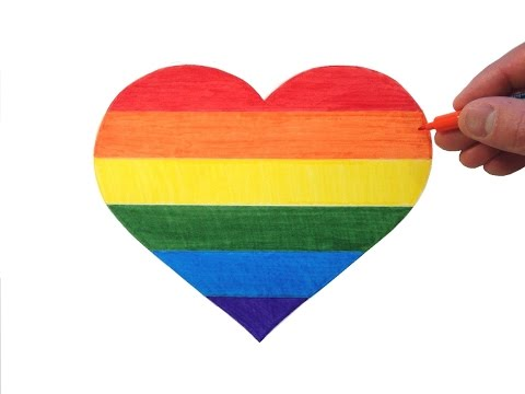 How to Draw a Rainbow Heart