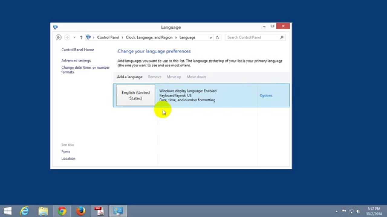 How to restore the language bar in Windows 7. What to do if the language bar disappears in Windows 7