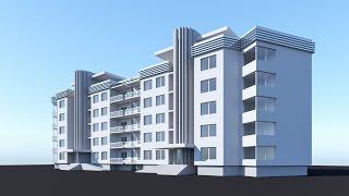 Моделирование Секционный дом