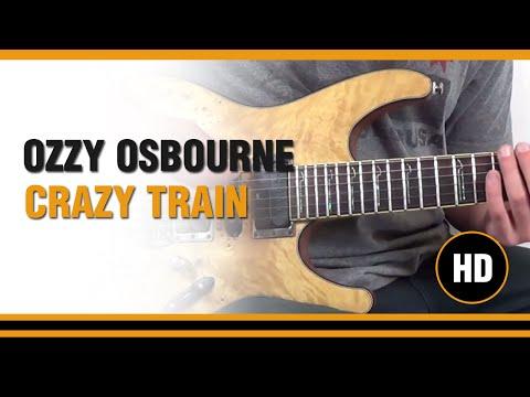 Como tocar Crazy Train De Ozzy Osbourne  en Guitarra electrica  CLASE TUTORIAL COMPLETA