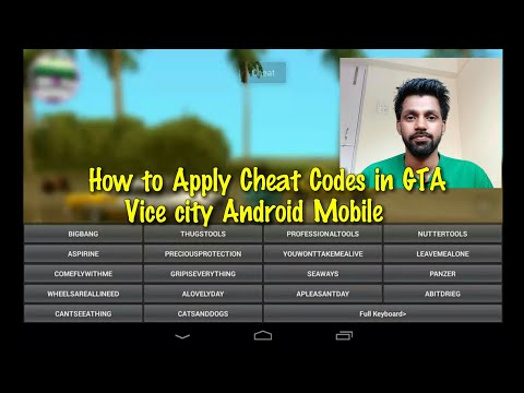 HOW TO APPLY CHEAT CODES IN GTA VICE CITY ANDROID MOBILE