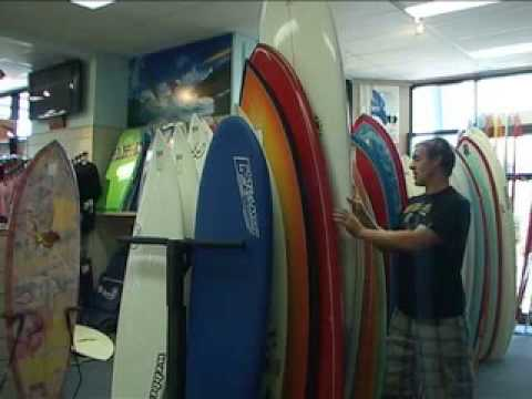 Learn to Surf Lesson 2: Elements of a surfboard and the right surfboard for you