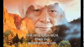 THÀ NHƯ GIỌT MƯA - Guitar Solo