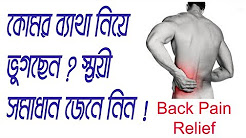 Low Back Pain (Sciatica And Disk Prolapse) Causes, Symptoms & Treatment In Bangla | Tutorial Video
