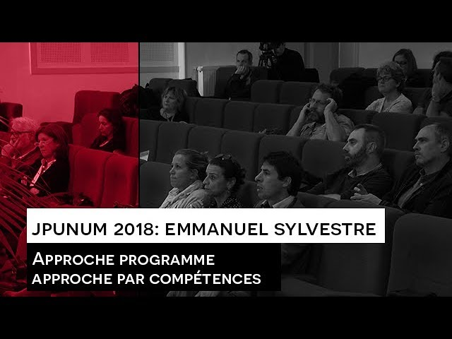 JPUNUM 2018 : Intervention Emmanuel SYLVESTRE