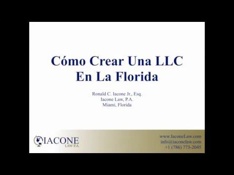 Cómo Crear Una LLC En La Florida