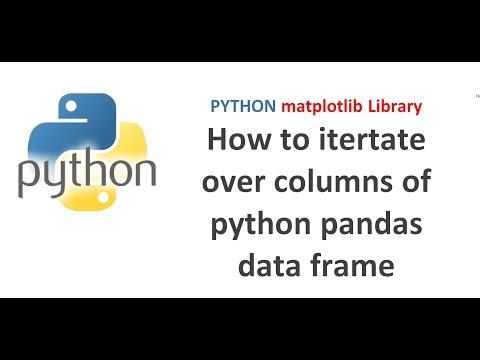 Python Pandas Tutorial 23 | How to iterate over columns of python