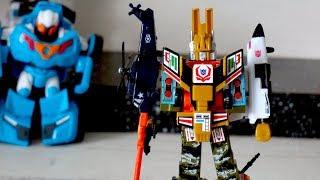 Тоботы и военный робот - трансформер. Новый защитник. Игрушки для мальчиков