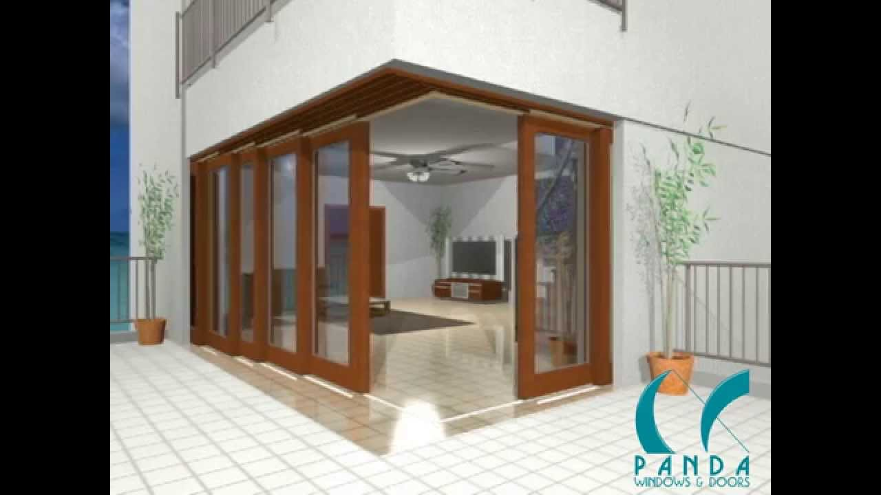 Panda S12 Solid Wood Lift Slide Door System Youtube