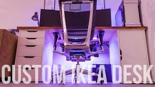 building the ultimate setup custom ikea desk