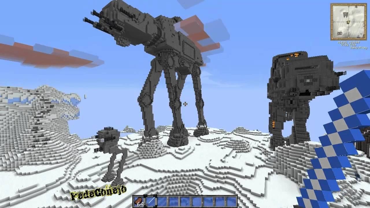 Mine Wars y Mapa de Aventura - Texture Pack & Adventure Map Star Wars - YouTube