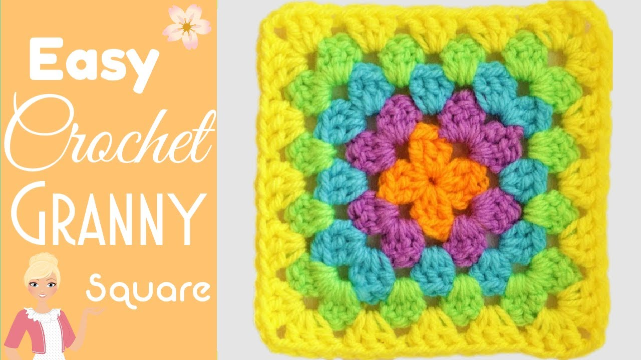 Super Easy Granny Square For Beginners Changing Colors The Secret Yarnery Youtube