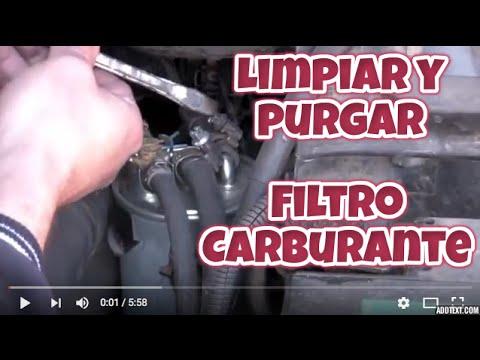 limpiar  purgar filtro carburante diesel clean drain