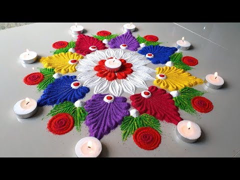 Rangoli Designs 2018: Latest Diwali Rangoli Designs Images, Photos, and Pictures