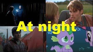 Английские фразы: At night (примеры из фильмов, сериалов и песен)